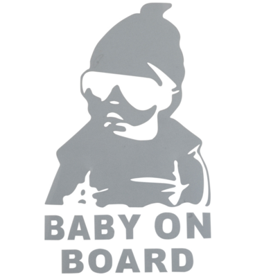 BABY ON BOARD BEBE A BORD ARGENT SECURITE STICKER AUTOCOLLANT ADHESIF AUTO CAR  SILVER TRUCK VAN VOITURE VEHICULE  15 cm ADHESIF X000MR6PQ7 COMASOUND KARTEL CSK ONLINE