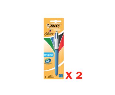 BIC STYLO 4 COULEURS LOT SET PACK ECRITURE SCOLAIRE ECOLE BUREAU STORE SHOP 3086121601613 RED GREEN BLUE BLACK SCHOOL WRITING COMASOUND KARTEL CSK ONLINE