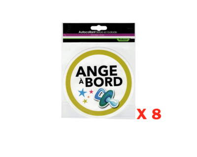 TBC BABY ON BOARD BEBE ANGE A BORD LOT SECURITE STICKER AUTOCOLLANT ADHESIF AUTO CAR TRUCK VAN VOITURE VEHICULE 3700266408776 COMASOUND KARTEL CSK ONLINE