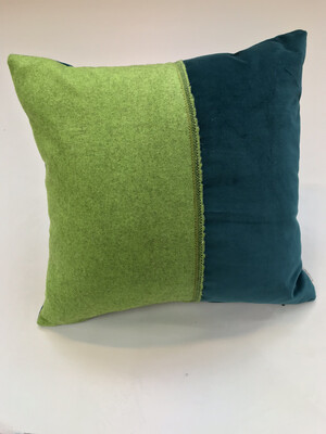 Capisoli and Teal Selvedge Cushion