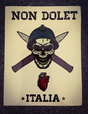 Sticker White NON DOLET ITALIA Lucido