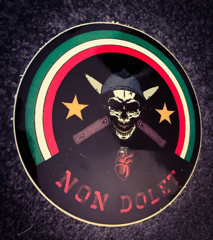 Sticker Black NON DOLET ITALIA Lucido