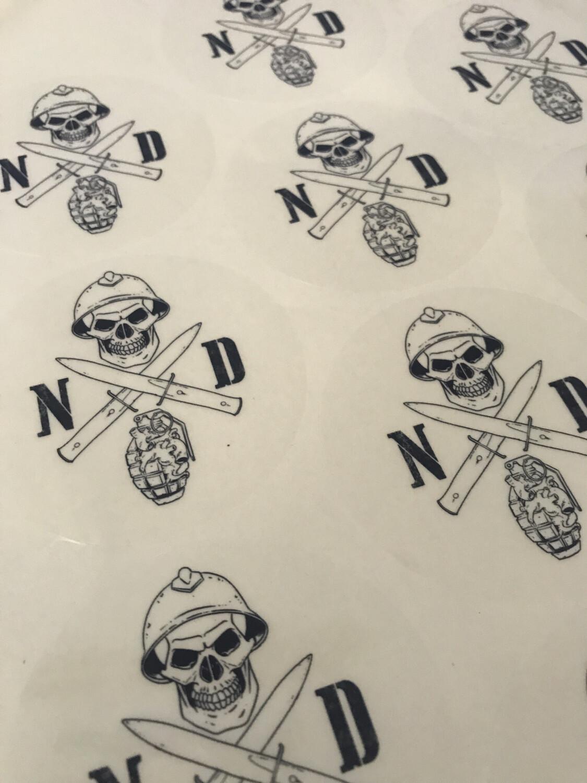 Sticker Transparent Round NDA Logo