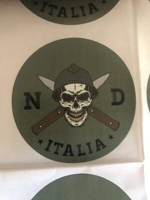 Sticker Green Round  NDA  Logo