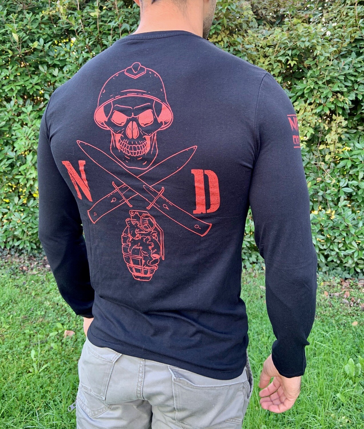 NON DOLET LONG SLEEVE, Black Ink RED