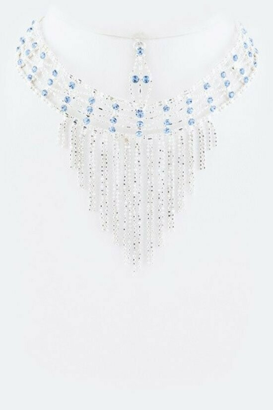 Beautiful Crystal Tiered Necklace Set