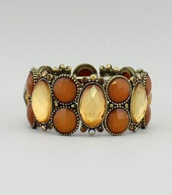Brown/ Gold Stone Bracelet