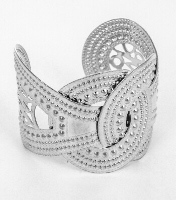 Hammered Buckle Cuff Bracelet