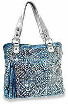 Bling Denim Purse with Strap