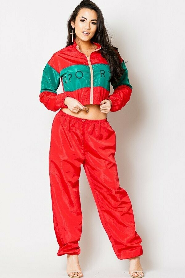 Two Piece High Waist Sports Jumpsuit