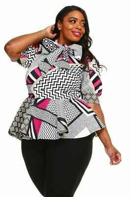Beautiful Abstract Print Blouse