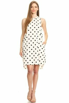Adorable White and Black Polka Dot Hil-Lo Dress