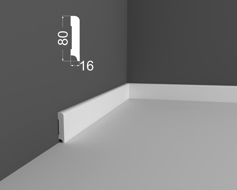 Плинтус напольный DeArtio под покраску Р2.80.16