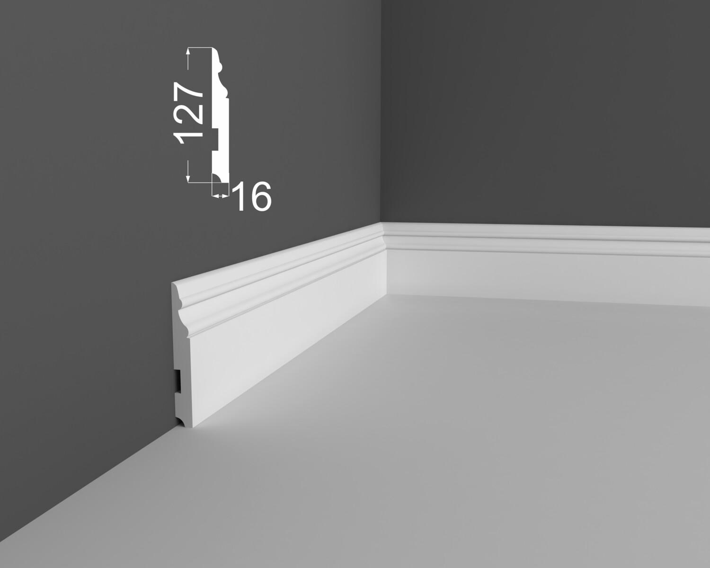Плинтус напольный DeArtio под покраску Р24.127.16