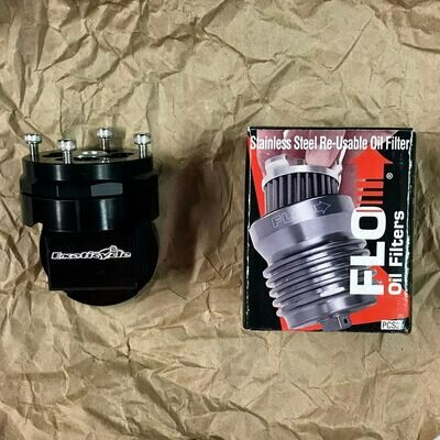 Billet Oil Filter and Relocator Combo