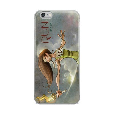 RUN (HEB.12:1) iPhone Case