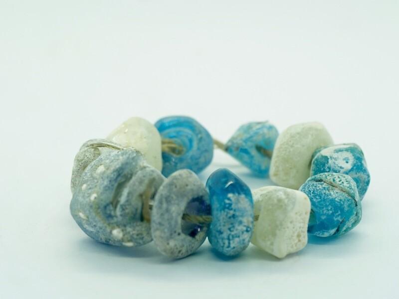 emubeads handmade sea-spray blues for jewellery making
