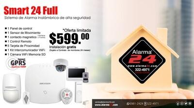 Sistema de alarma inalámbrico Smart24 Full