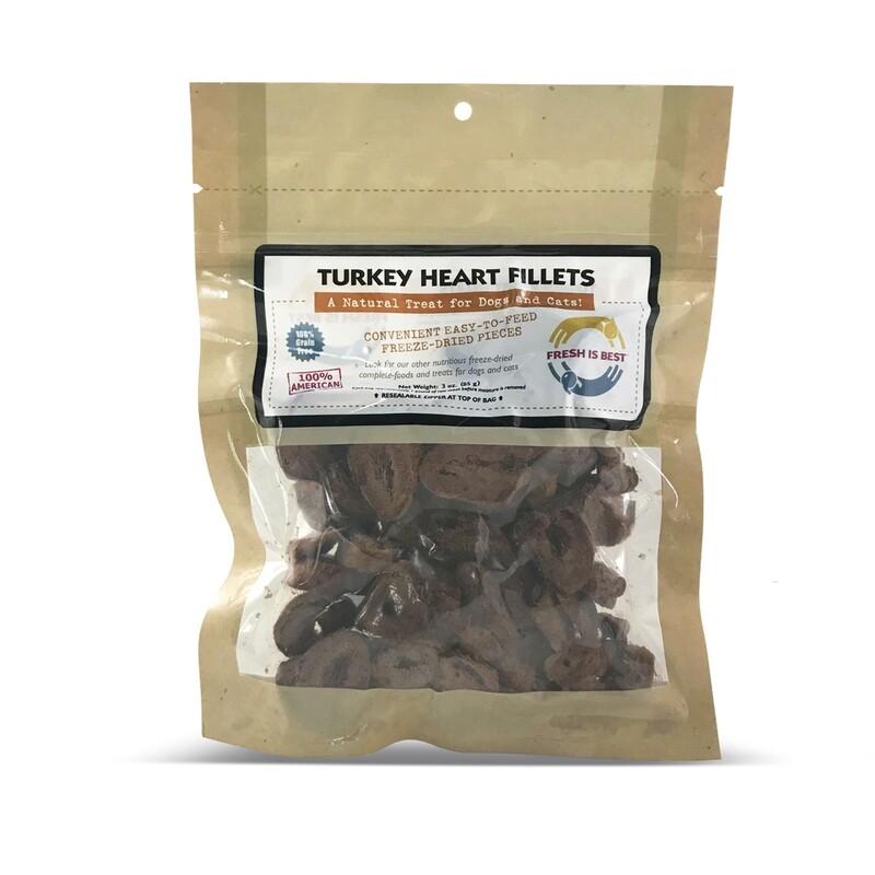 Freeze-Dried Turkey Heart Fillets