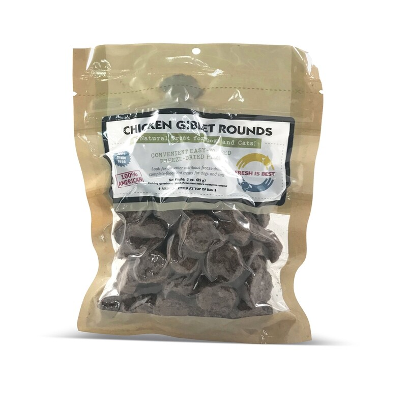 Freeze-Dried Chicken Giblet Rounds
