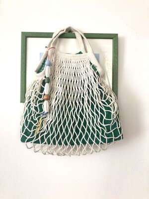 CECILIA - Tote Netted Lined Bag, Slouchy Little Bag