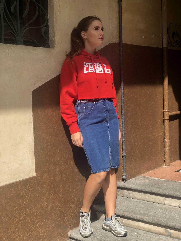Krizia Midi Denim Pencil Skirt