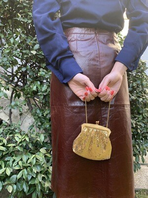 Vintage 1950's Mini Bag Golden Purse