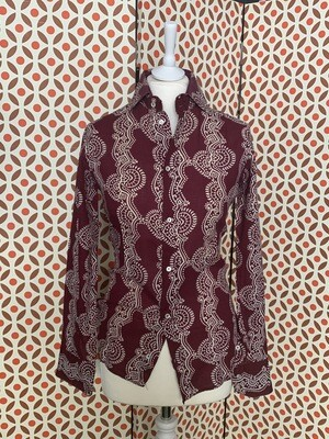 Vintage 1970s Indian Fabric Shirt