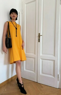 Vintage 1960s A line dress in Yellow