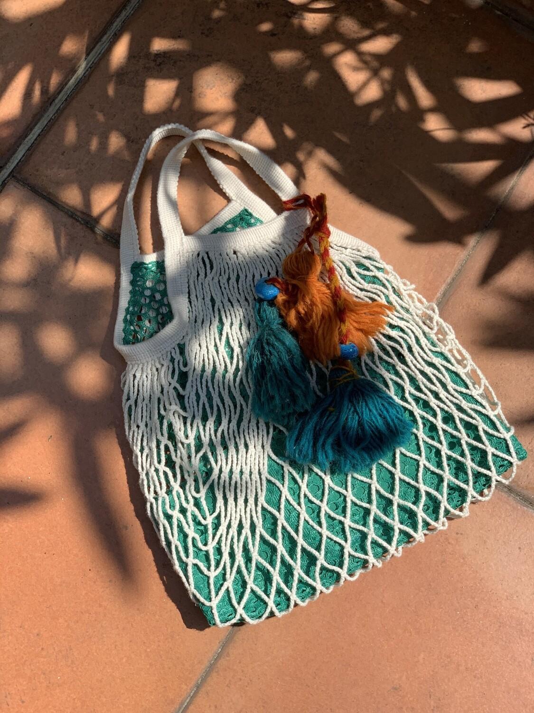 Reworked String Fishnet Market Bag