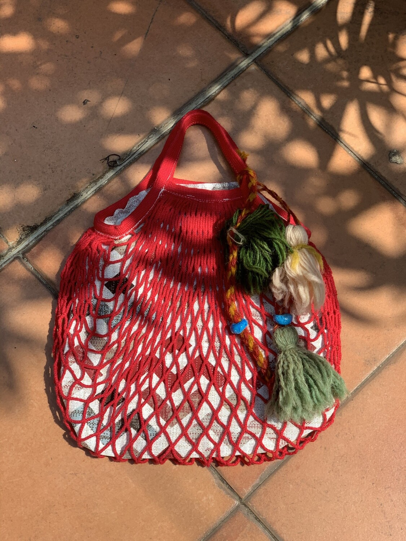 Reworked String Fishnet Market Shopper Bag