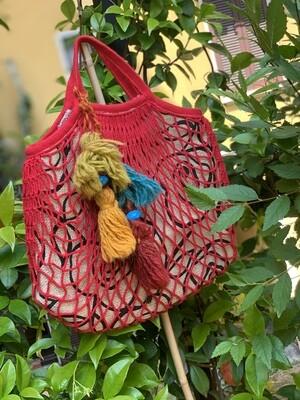 Reworked String Fishnet Shopper Market Bag
