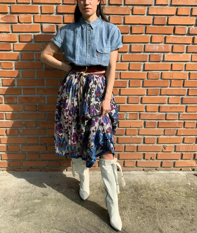 Vintage Indian Skirt Gauze in Cotton