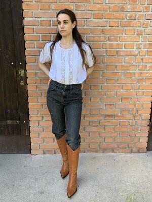 Vintage Levi's 501 jeans in black W29 high waist