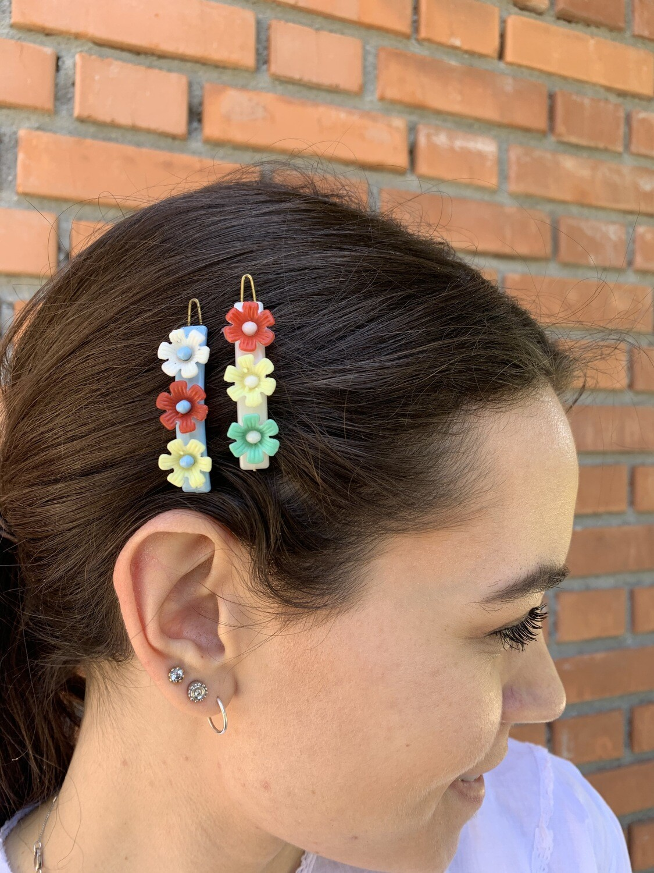 Vintage Floral Hair Pins Clip