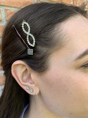 Hair Barrettes Pearls Set of Three