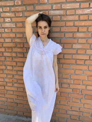 Vintage Slip Dress 70s Nightgown with Lace