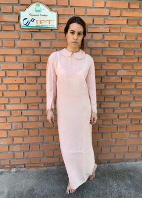 Vintage Silk Slip Dress in Nude