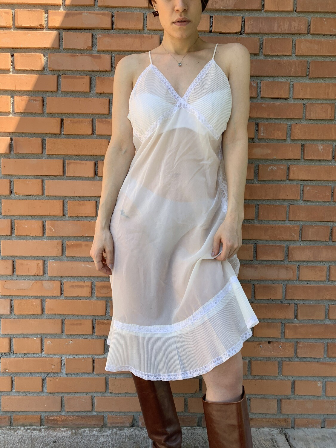 Vintage Sheer Nigthgown Slip Dress Size Large