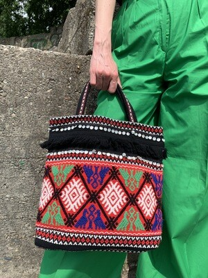 Vintage Boho Hippie Fringed Bag