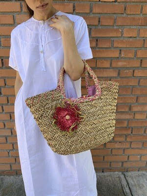Vintage Straw Market Bag Parisienne Shopper Basket