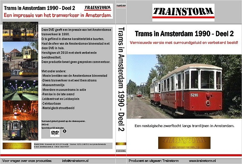 Trams in Amsterdam 1990 deel 2