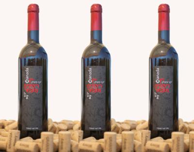 3 bottles of dry pomegranate wine. 3 бутылки сухого гранатового вина