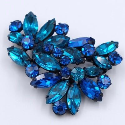 Vintage Regency Blue Brooch