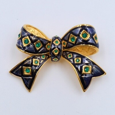Vintage Joan Rivers Bow Brooch