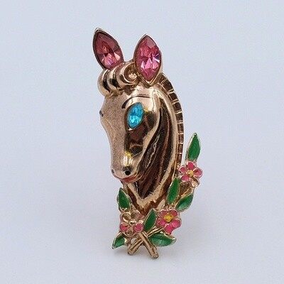 Vintage Coro Single Horse Brooch 1940's