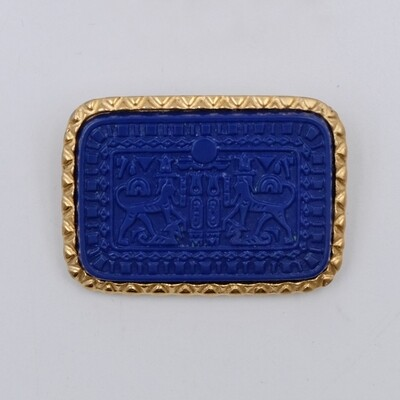 Vintage Egyptian Marvella Blue Brooch
