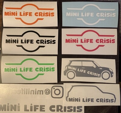 Mini Life Crisis logo sticker