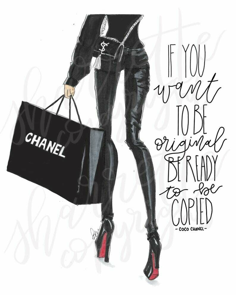 Chanel Louboutin Fashion Illustration Print
