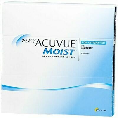 1-DAY ACUVUE MOIST for ASTIGMATISM 90 Pack (90 Lenses/Box)